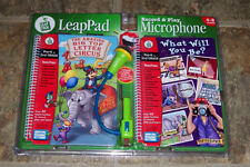 Leap Frog LeapPad Record & Play Microphone 2 Books Pre-K - 2nd Quantum Pad Toy