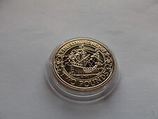 PROOF  Gold-Plated -The Mary Rose 500th Anniversary of Launch £2 Coin   REDUCED