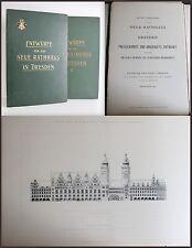2 Mappen Entwürfe: Im Wettbewerbe für das neue Rathhaus in Dresden 1901 -Sachsen