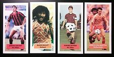 Complete collection of 4 AC MILAN Score UK football trade cards RIVERA GULLIT ++