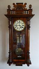 Antique Victorian German Gustav Becker Wall Clock Weight Driven Vienna Regulator