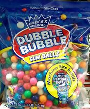 Gum Balls ~ Dubble Bubble ~ 53 oz Bag ~ Assorted Fruit Flavored Gum Balls Refill