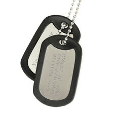 Two Engraved Army Dog Tags With Silencers And Chain Personalised Gift Present