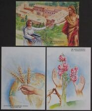 3 Unused SMOM Postcards 1981 Sovereign Military Order Malta World Hunger IYDP