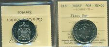 2006P Canada Fifty Cent Certified ICCS MS-66; First Day