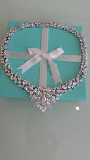 diamonique qvc 65ct mix cut statement necklace sterling silver