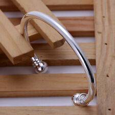 Stunning Wholesale 925 Sterling Silver Double Beads Bracelet&Bangle ZBB027