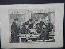 Illustrated London News Full Page B&W A1#008 Feb 1871 New Wars and Old Warriors