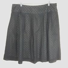 NWT Talbots Skirt Sz 16 Black A-line Pleated Polka Dot Cotton Career Office Wear