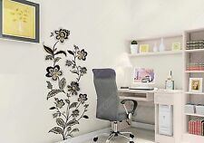 Black & Gold Vine Flowers Wall Stickers Art Decor Home Office Shop Decal B1