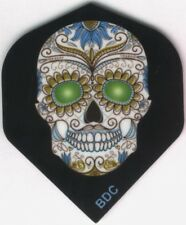 Green Eyed Candy Skull Dart Flights: 3 per set