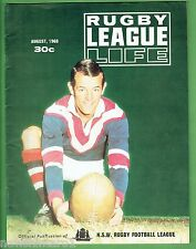 #T103.   RUGBY LEAGUE LIFE MAGAZINE, AUGUST 1968, EASTERN SUBURBS  COVER