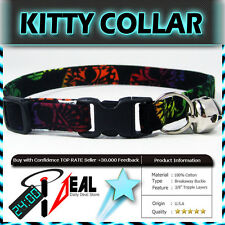 Safety  CAT KITTEN  Breakaway Collar ~ MAYHEM ONBRE SKULLS ~