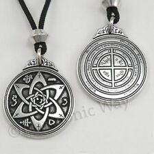 POETS WRITER TALISMAN w Magical symbols Amulet Pendant Necklace