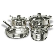 CONCORD 7 PCS Stainless Steel Cookware Set. Pots Pans Dutch Oven Fry Skillet