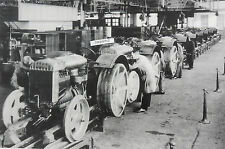 "Ford Tractor 9N assembly Line 12X18"" Black & White Picture"
