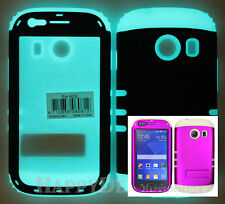 Hybrid Cover Case for Samsung Galaxy Ace Style S765c R Glow Dark/Purple