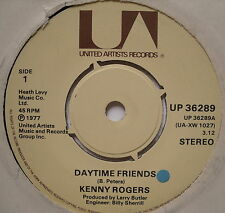 "KENNY ROGERS - Daytime Friends - Excellent Con 7"" Single United Artists UP 36289"