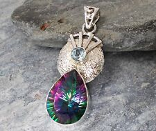 925 Argento Mystic Topazio Ciondolo p447 ~ silverwave * UK Jewellery