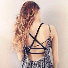 Sexy Bustier Bralette Cut-Out Bra Crop Corset Strappy Tops Blouse Tank Top