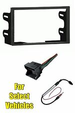 VW Double Din Car Stereo Radio Install Dash Trim Kit +Wire+Amplified Ant Adapter