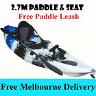 2.7M Fishing Kayak Single Sit-on Kayak 5 Holders Seat Paddle blue Melbourne Only