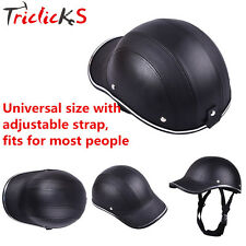 Motorcycle Bike Scooter Half Helmet Baseball Cap Style Safety Hard Hat Open Face