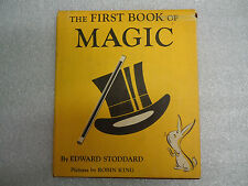 VTG Vintage 1st Book of Magic by Edward Stoddard