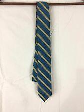 J Crew Teal and Gold Silk Tie Slim NWT