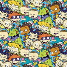 Rugrats Packed Characters 100% cotton quilting Fabric by the yard