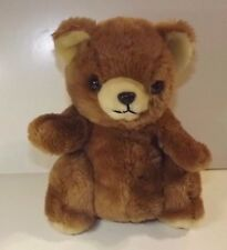 DAEKOR BROWN TEDDY BEAR PLUSH POTBELLY VINTAGE  STUFFED ANIMAL _KOREA 1980'S