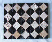 20 Antique Grueby Pardee Tile Arts & Crafts Art Deco Pottery Pink Black Diamonds
