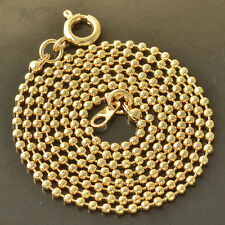 14K Yellow Gold Filled Womens Smooth Ball Beaded Necklace Fit Pendant 20 inches