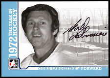 09 ITG 1972 THE YEAR IN HOCKEY AUTO SIGN AUTOGRAPH GORD LABOSSIERE HOUSTON AEROS