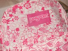 RARE NWT PINK LABEL JANSPORT WHITE PINK DOODLE SUPERBREAK BACKPACK ~FREE US SHIP