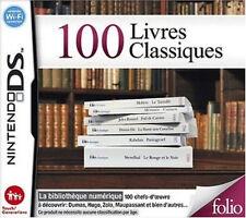 8736 // 100 LIVRES CLASSIQUES NINTENDO DS NEUF EN FRANCAIS