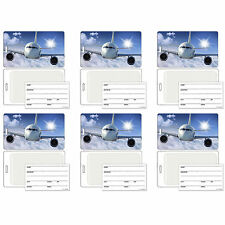 Luggage Bag Travel Tag with 3D Airplane Effect Lenticular Set of 6 #LT01-278#