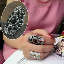 Bohemia Vintage Silver Tribal Wide Wrap Finger Ring Gypsy Retro Jewelry Gifts YX