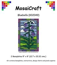 MosaiCraft Pixel Craft Mosaic Art Kit 'Bluebells' Spring (Incl. Dove Tail Clips)