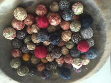 36 Tiny Primitive Rustic Rag Balls Bowl Fillers