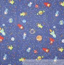 BonEful Fabric FQ Cotton Quilt Planet Space STAR Baby Boy Girl Galaxy Map Sky US