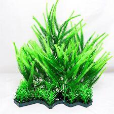 Artificial Plastic Green Fern Aquarium Fish Tank Plant Ornament Decoration 28cm