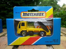 MATCHBOX LESNEY 1981 MB 45 FORD SKIP TRUCK Neuf boite jamais ouverte scellée