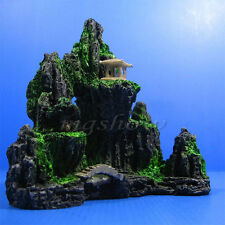 New Mountain View Aquarium Ornament Tree Rock Cave Stone Fish Tank Decoration