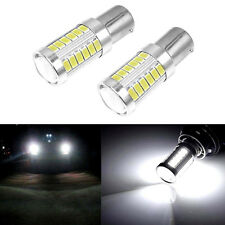 1 Pair BA15S P21W 1156 LED Car Backup Reverse Light Bulb 33-SMD 5630 5730 12V