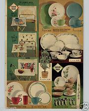 1963 PAPER AD 2 Pg Melmac Dinnerware Plates Dorchester Sequoia Pine Petite Rose