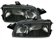 BLACK  finish headlight set for FIAT PUNTO 1 176 GT H1 HALOGEN LWR 93-99