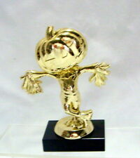 HALLOWEEN TROPHY   PUMPKIN SCARECROW  COSTUME PARTY AWARD  PUMPKIN CARVING # 1