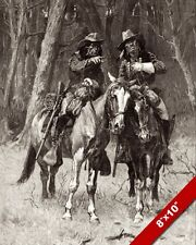 NATIVE AMERICAN CHEYENNE INDIAN SCOUTS ON HORSES OIL PAINTING ART CANVAS PRINT