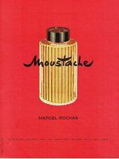 PUBLICITE ADVERTISING 126  1957   Moustache  eau toilete home Marcel Rochas
